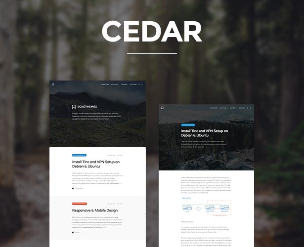 Cedar - Responsive Ghost Theme