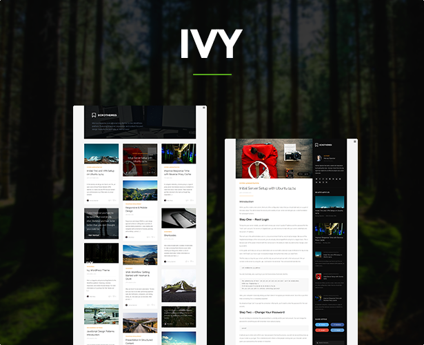 Ivy - Responsive Masonry Ghost Theme