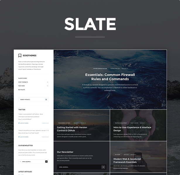 Slate - Responsive WordPress Blog Theme